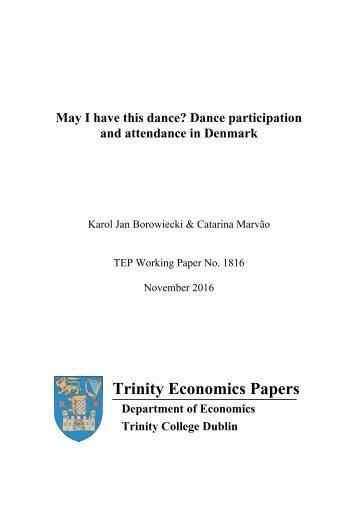 Trinity Economics Papers