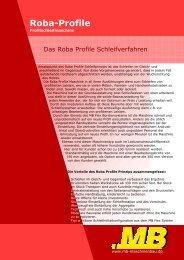 Roba-Profile - MB Maschinenbau