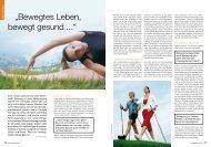"""Bewegtes Leben, bewegt gesund ..."" - Petra Peschel"