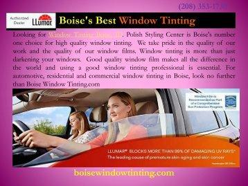 Window Tinting in Boise Boise Window Tint