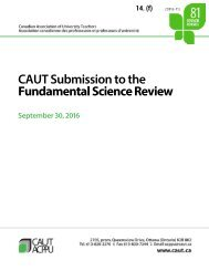 CAUT Submission to the Fundamental Science Review
