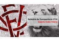 Relatório de Transparência 1T16 Esporte Clube Vitória