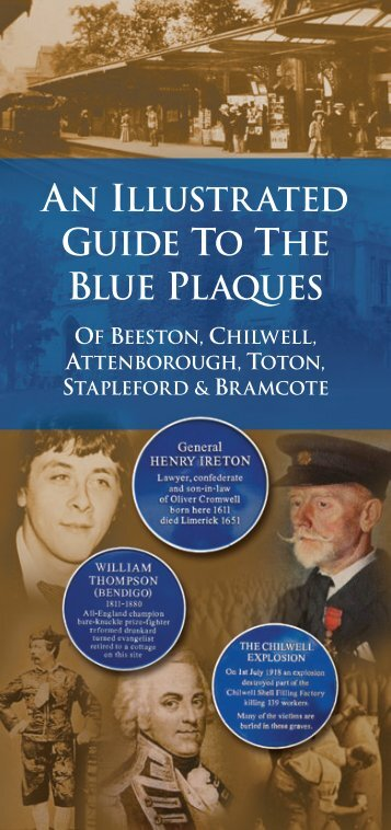 GUIDE TO THE BLUE PLAQUES