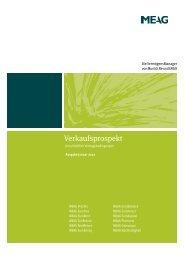 Verkaufsprospekt - MEAG Munich Ergo Asset Management GmbH