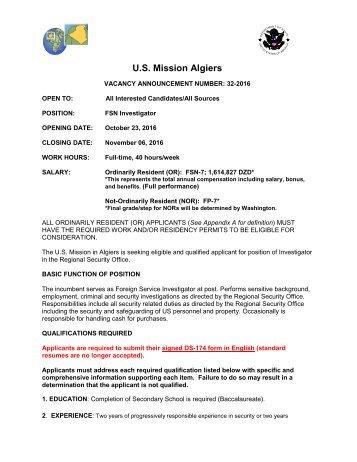 U.S Mission Algiers