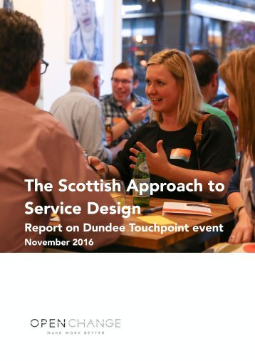 The Scottish Approach to Service Design