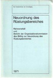 BMVg - Neuordnung des Rüstungsbereiches (1971)-1