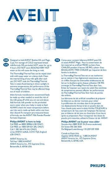 Philips Avent ThermaBag en nylon - Mode d'emploi - POR