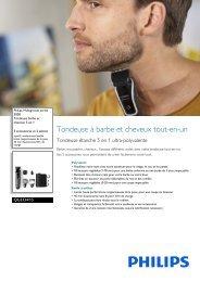 Philips Multigroom series 3000 5-in-1-Bart- und Haarschneider - Fiche Produit - FRA