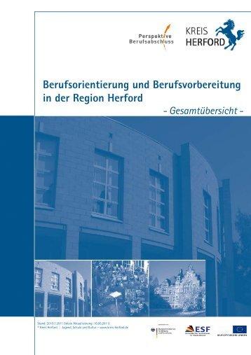 Berufsorientierung und Berufsvorbereitung in der Region Herford