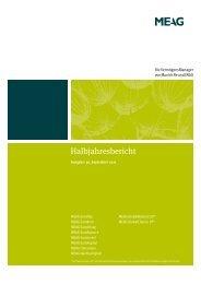 Halbjahresbericht - MEAG Munich Ergo Asset Management GmbH