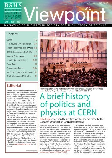 A brief history of politics and physics at CERN