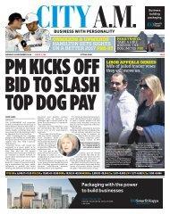 PM KICKS OFF BID TO SLASH TOP DOG PAY