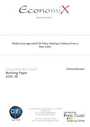 Document de Travail Working Paper 2016-38