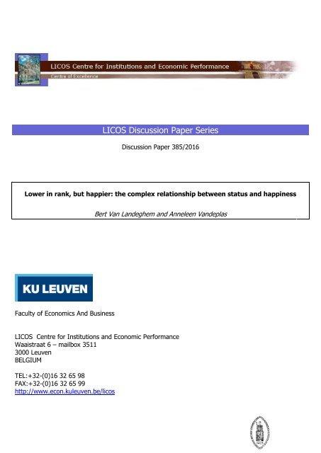 LICOS Discussion Paper Series