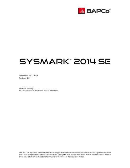 SYSmark 2014 SE