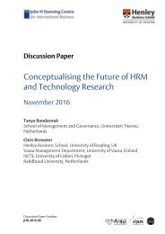 Conceptualising the Future of HRM and Technology Research