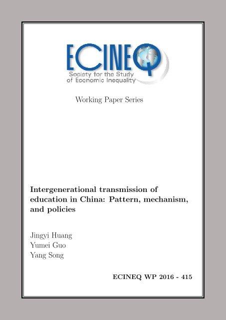 and policies Jingyi Huang Yumei Guo Yang Song