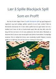 Lær å Spille Blackjack Spill Som en Proff