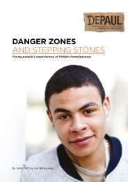 DANGER ZONES AND STEPPING STONES