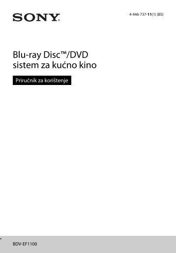 Sony BDV-EF1100 - BDV-EF1100 Istruzioni per l'uso Bosniaco