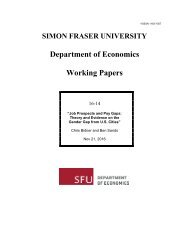 Department of Economics Working Papers