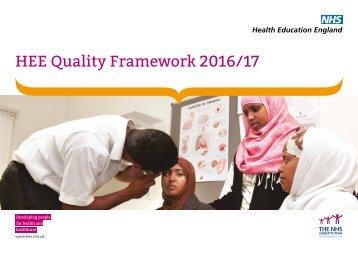 HEE Quality Framework 2016/17
