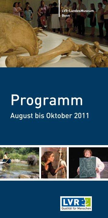 Veranstaltungsprogramm August bis Oktober 2011