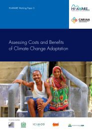 Assessing Costs and Benefits of Climate Change Adaptation