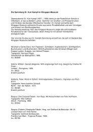 Die Sammlung Dr. Kurt Kampf im Klingspor-Museum Oberstudienrat ...