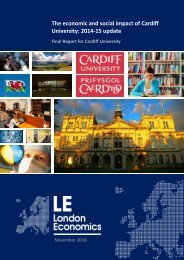 The economic and social impact of Cardiff University 2014-15 update