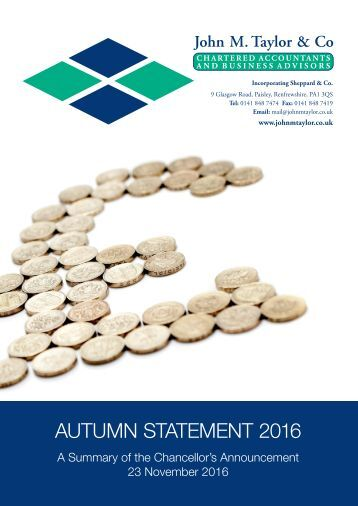 AUTUMN STATEMENT 2016