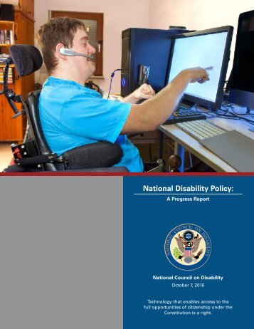 National Disability Policy