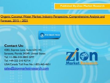 Organic Coconut Water Market 2015 - 2021