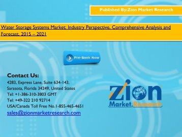 Water Storage Systems Market, 2015 - 2021
