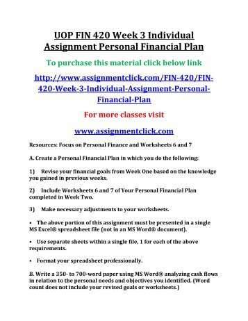 financing strategy assignment Question assignment: describe the particular external environmental issues that impact upon financial services organisations' strategic planning.