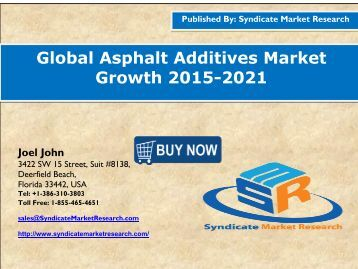 Asphalt Additives market