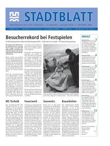 Besucherrekord bei Festspielen - Stadt Heidelberg