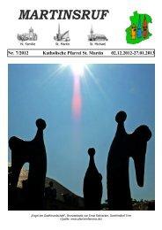 Gemeindebrief - Katholisches Pfarramt Sankt Martin - Rendsburg