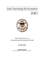 The Joint Force in a Contested and Disordered World