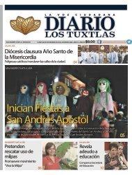 Edición de diario los tuxtlas del día 28 de noviembre de 2016