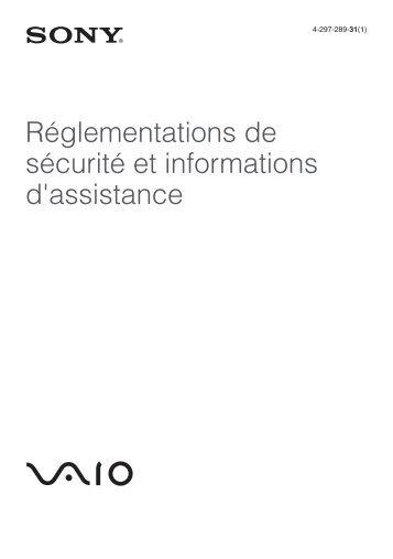 Sony VPCSB3V9E - VPCSB3V9E Documenti garanzia Francese