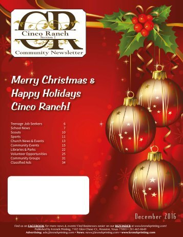Cinco Ranch 1 December 2016