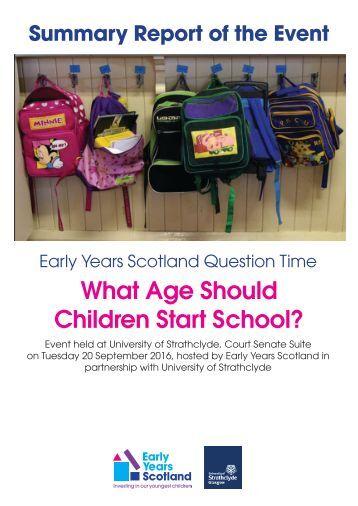 What Age Should Children Start School?