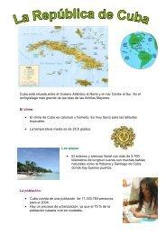 Cuba está situada entre el Océano Atlántico al - Euro-Schulen Trier
