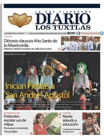 Edición de Diario los Tuxtlas del día 281116
