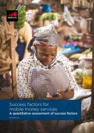 Success factors for mobile money services