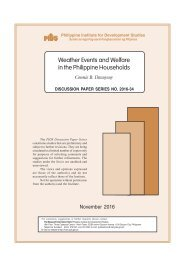 Weather Events and Welfare in the Philippine Households
