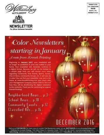 Williamsburg Settlement December 2016