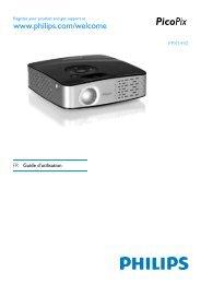 Philips PicoPix Projecteur de poche - Mode d'emploi - FRA